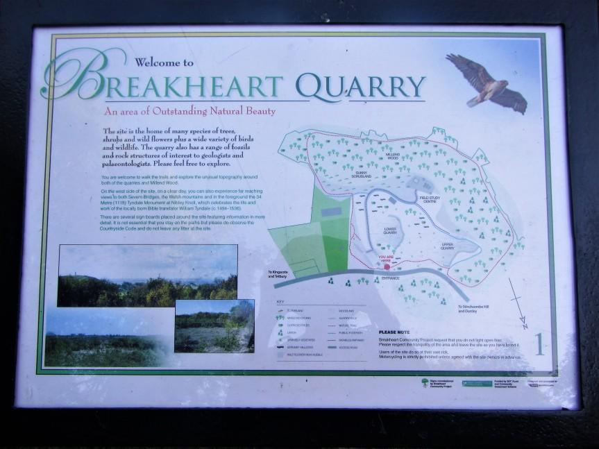 Map of Breakhart Quarry