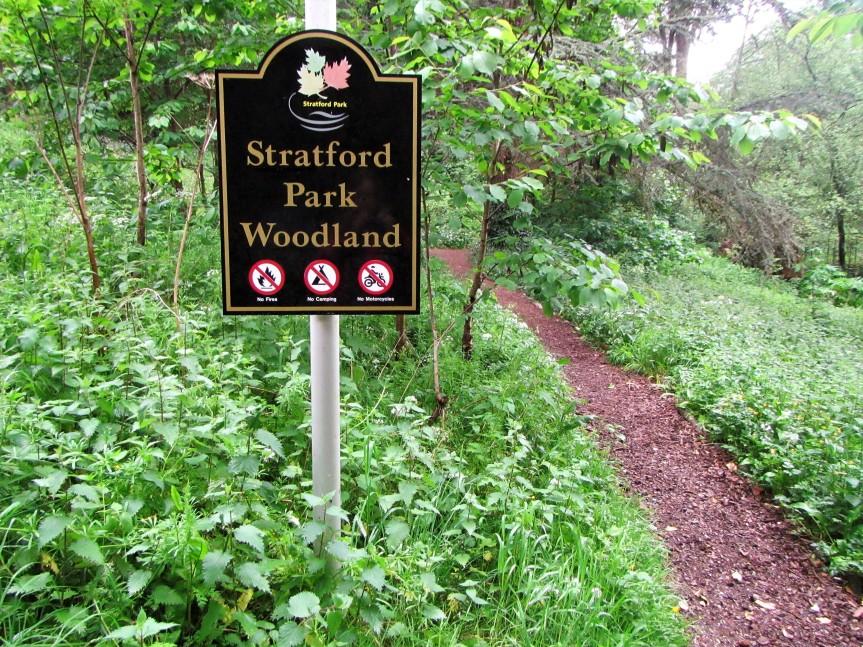 Stratford Park woodland entrance