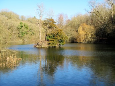 Cherington Pond -full view of pond Feb 2018 Caroline Aistrop