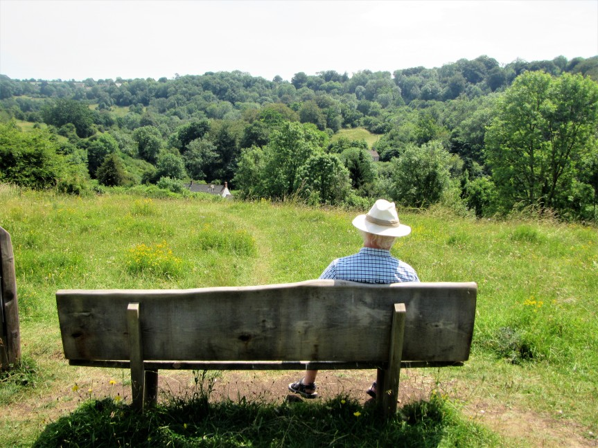 Bob and bench Daneway Banks July 2018 - C Aistrop