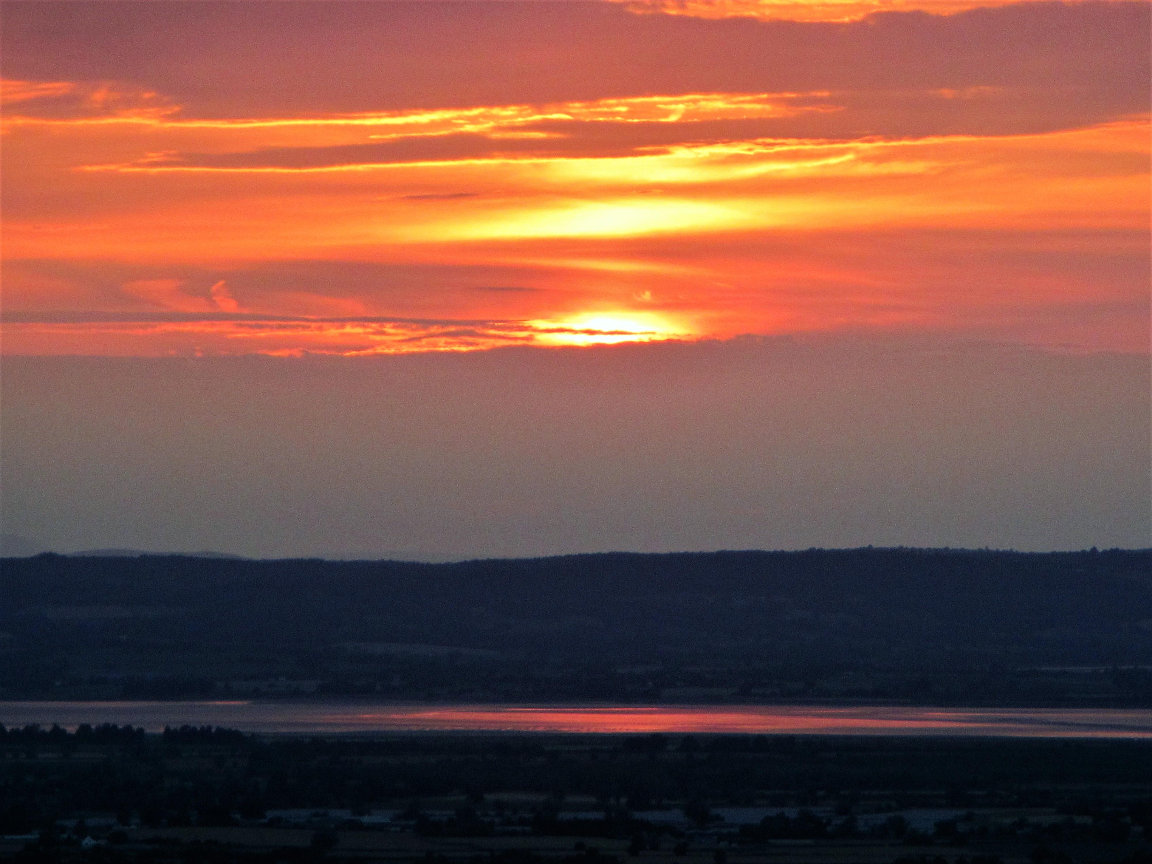 Coaley Peak - sunset July 2018 C Aistrop